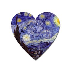 Vincent Van Gogh Starry Night Magnet (Heart) by MasterpiecesOfArt