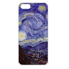 Vincent Van Gogh Starry Night Apple Iphone 5 Seamless Case (white) by MasterpiecesOfArt