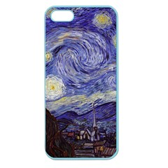 Vincent Van Gogh Starry Night Apple Seamless Iphone 5 Case (color) by MasterpiecesOfArt