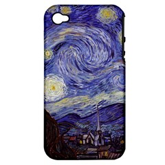 Vincent Van Gogh Starry Night Apple Iphone 4/4s Hardshell Case (pc+silicone) by MasterpiecesOfArt