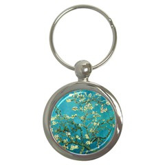 Vincent Van Gogh Blossoming Almond Tree Key Chain (round) by MasterpiecesOfArt