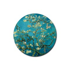 Vincent Van Gogh Blossoming Almond Tree Drink Coasters 4 Pack (round) by MasterpiecesOfArt