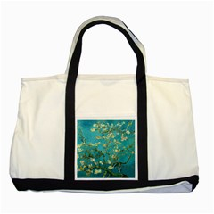 Vincent Van Gogh Blossoming Almond Tree Two Toned Tote Bag by MasterpiecesOfArt