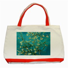Vincent Van Gogh Blossoming Almond Tree Classic Tote Bag (red) by MasterpiecesOfArt