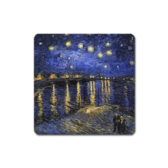Vincent Van Gogh Starry Night Over The Rhone Magnet (square) by MasterpiecesOfArt