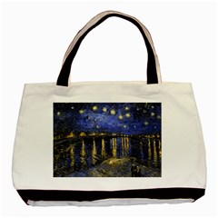 Vincent Van Gogh Starry Night Over The Rhone Classic Tote Bag by MasterpiecesOfArt