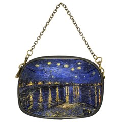 Vincent Van Gogh Starry Night Over The Rhone Chain Purse (one Side) by MasterpiecesOfArt