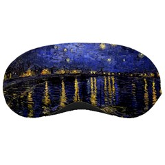 Vincent Van Gogh Starry Night Over The Rhone Sleeping Mask by MasterpiecesOfArt