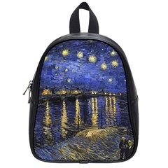Vincent Van Gogh Starry Night Over The Rhone School Bag (small) by MasterpiecesOfArt