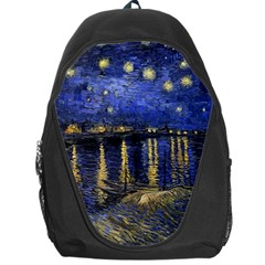 Vincent Van Gogh Starry Night Over The Rhone Backpack Bag