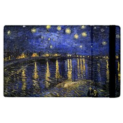 Vincent Van Gogh Starry Night Over The Rhone Apple Ipad 2 Flip Case by MasterpiecesOfArt