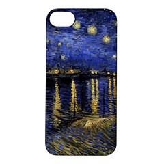 Vincent Van Gogh Starry Night Over The Rhone Apple Iphone 5s Hardshell Case by MasterpiecesOfArt
