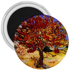 Vincent Van Gogh Mulberry Tree 3  Button Magnet by MasterpiecesOfArt