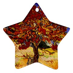 Vincent Van Gogh Mulberry Tree Star Ornament by MasterpiecesOfArt
