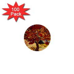 Vincent Van Gogh Mulberry Tree 1  Mini Button (100 Pack) by MasterpiecesOfArt