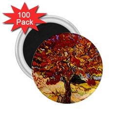 Vincent Van Gogh Mulberry Tree 2 25  Button Magnet (100 Pack) by MasterpiecesOfArt