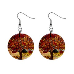 Vincent Van Gogh Mulberry Tree Mini Button Earrings
