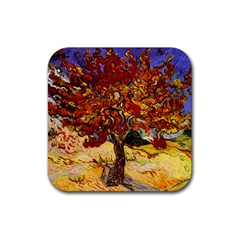 Vincent Van Gogh Mulberry Tree Drink Coaster (square) by MasterpiecesOfArt
