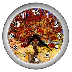 Vincent Van Gogh Mulberry Tree Wall Clock (silver) by MasterpiecesOfArt