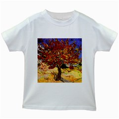 Vincent Van Gogh Mulberry Tree Kids' T Shirt (white) by MasterpiecesOfArt