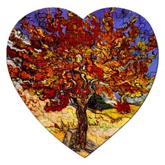 Vincent Van Gogh Mulberry Tree Jigsaw Puzzle (heart) by MasterpiecesOfArt