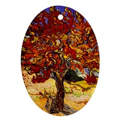 Vincent Van Gogh Mulberry Tree Oval Ornament (two Sides) by MasterpiecesOfArt