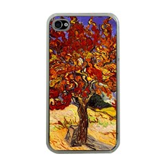Vincent Van Gogh Mulberry Tree Apple Iphone 4 Case (clear) by MasterpiecesOfArt