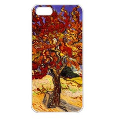 Vincent Van Gogh Mulberry Tree Apple Iphone 5 Seamless Case (white) by MasterpiecesOfArt