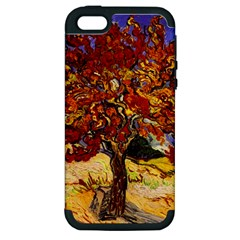 Vincent Van Gogh Mulberry Tree Apple Iphone 5 Hardshell Case (pc+silicone) by MasterpiecesOfArt
