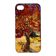 Vincent Van Gogh Mulberry Tree Apple Iphone 4/4s Hardshell Case With Stand by MasterpiecesOfArt