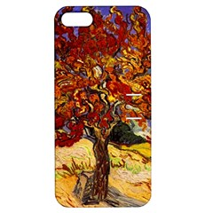Vincent Van Gogh Mulberry Tree Apple Iphone 5 Hardshell Case With Stand by MasterpiecesOfArt