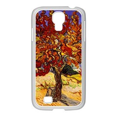 Vincent Van Gogh Mulberry Tree Samsung GALAXY S4 I9500/ I9505 Case (White)