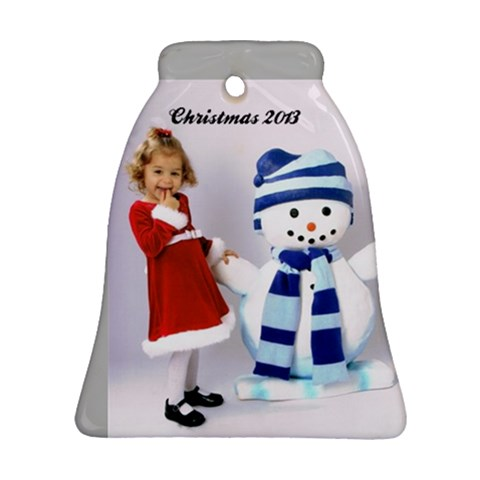 Christmas 2013 1 By Monica Bell   Ornament (bell)   Kl26vcpqp1d4   Www Artscow Com Front