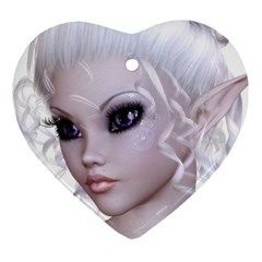 Fairy Elfin Elf Nymph Faerie Heart Ornament by goldenjackal