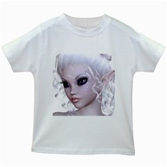 Fairy Elfin Elf Nymph Faerie Kids' T Shirt (white) by goldenjackal