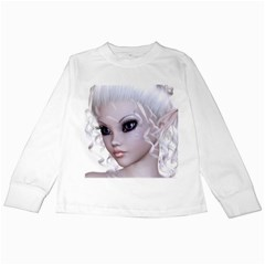 Fairy Elfin Elf Nymph Faerie Kids Long Sleeve T Shirt by goldenjackal