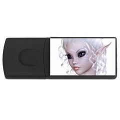 Fairy Elfin Elf Nymph Faerie 4gb Usb Flash Drive (rectangle) by goldenjackal