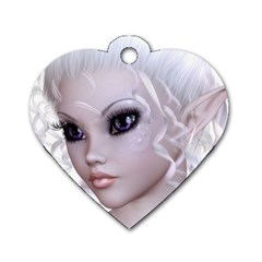 Fairy Elfin Elf Nymph Faerie Dog Tag Heart (two Sided) by goldenjackal