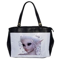 Fairy Elfin Elf Nymph Faerie Oversize Office Handbag (one Side) by goldenjackal