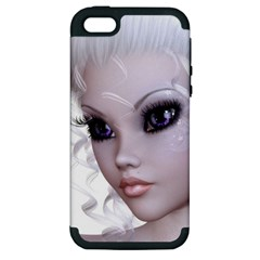 Fairy Elfin Elf Nymph Faerie Apple Iphone 5 Hardshell Case (pc+silicone) by goldenjackal