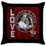 Love Forever Throw Pillow Case - Throw Pillow Case (Black)