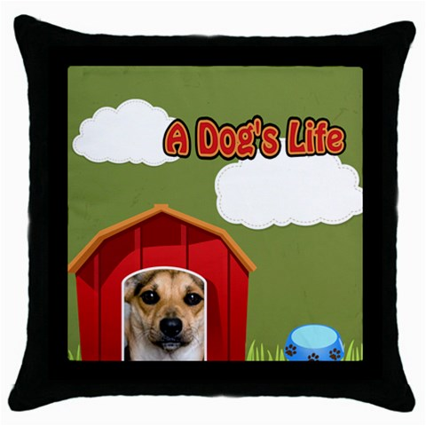 Pet By Pet    Throw Pillow Case (black)   On0cw9u39pts   Www Artscow Com Front