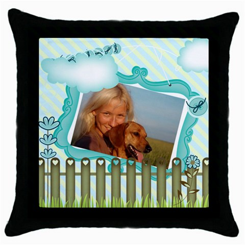 Pet By Pet    Throw Pillow Case (black)   Xp6hhogccbbe   Www Artscow Com Front