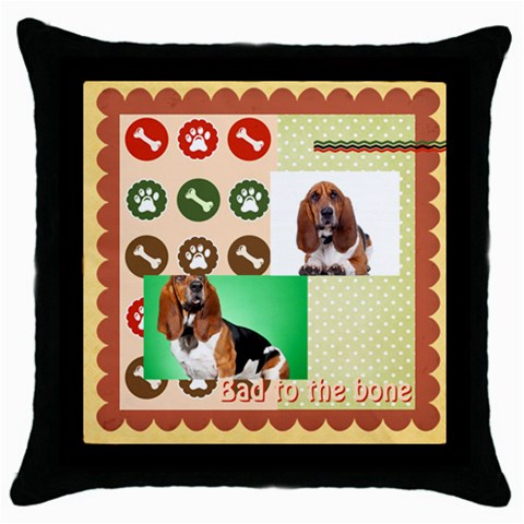 Pet By Pet    Throw Pillow Case (black)   4uxpiqk1q9ww   Www Artscow Com Front