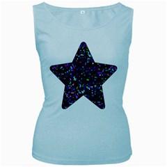 Glitter 1 Women s Tank Top (baby Blue) by MedusArt