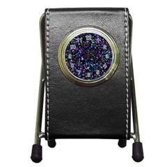 Glitter 1 Stationery Holder Clock by MedusArt