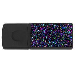 Glitter 1 4GB USB Flash Drive (Rectangle)