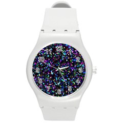 Glitter 1 Plastic Sport Watch (medium) by MedusArt