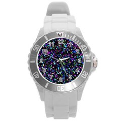 Glitter 1 Plastic Sport Watch (large) by MedusArt
