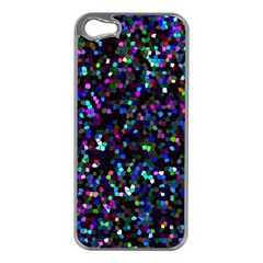Glitter 1 Apple Iphone 5 Case (silver) by MedusArt